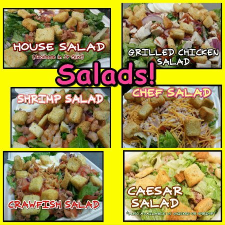 Scott, Λουιζιάνα: Many Salad options!