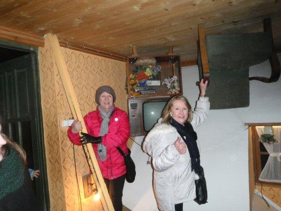 Inside the house in Szymbark