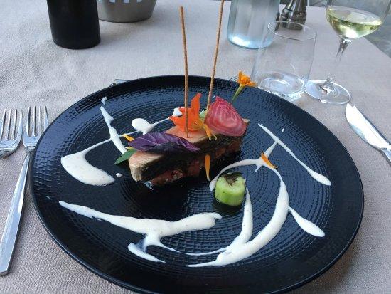 Muret-le-Chateau, France: Tartare de saumon fabuleux