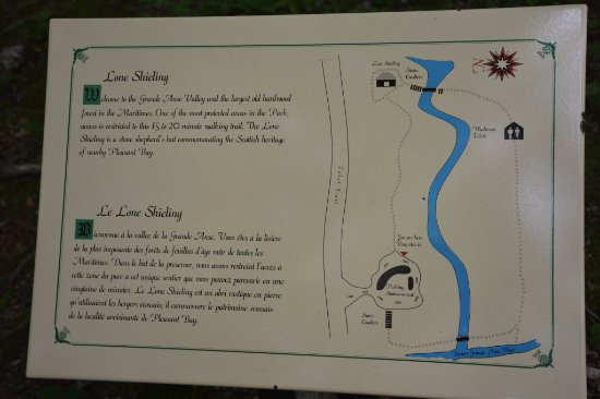 Pleasant Bay, Canada: Map of the loop and a bit of information