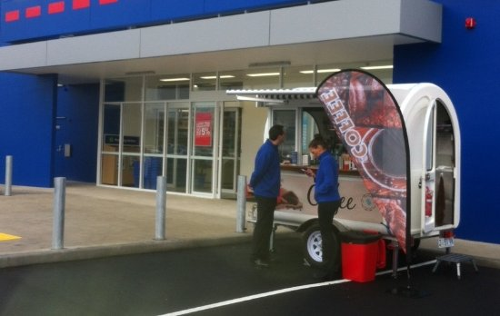Devonport, Australia: Corporate Coffee Service - welcome customers, trade reps, offical openings with a hot drink.