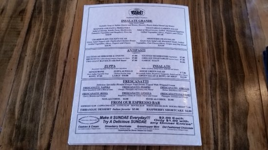 Galt, CA: Dinner Menu