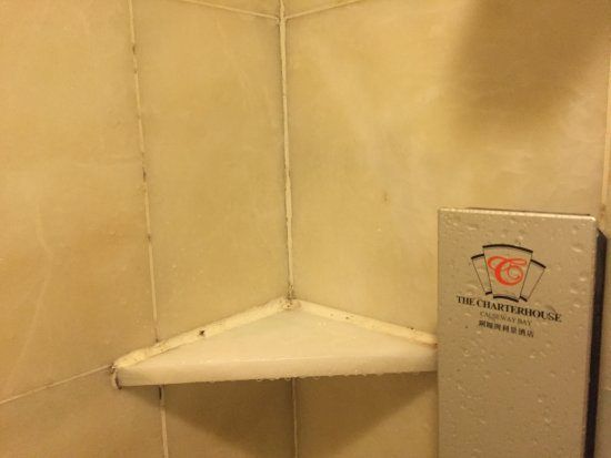 The Charterhouse Causeway Bay Hotel: Not even new silicon caulking...lazy much!