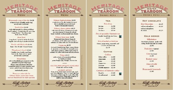 Burray Village, UK: MENU 2016