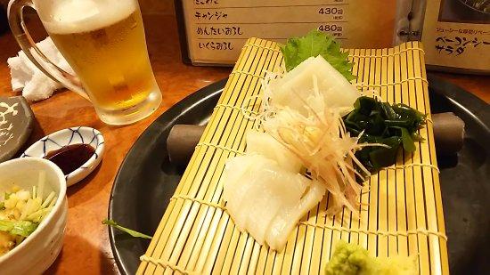 Suwa, Japón: 薬味もたっぷりのイカ刺し