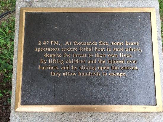 Circus Fire Memorial: Plaque on rock