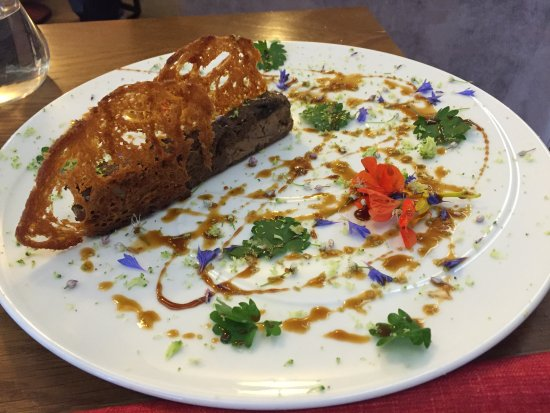 Villefranche-de-Rouergue, Francia: Foie-Gras pressé, en delikatess!