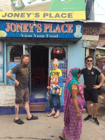 Outside Joney's Place!!