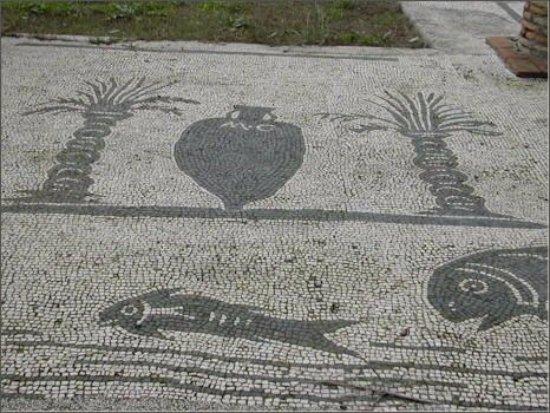 Ostia Antica, Italia: Mosaico Foro de las Corporaciones