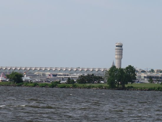 Reagan airport from Hains Point Picture of Hains Point Washington