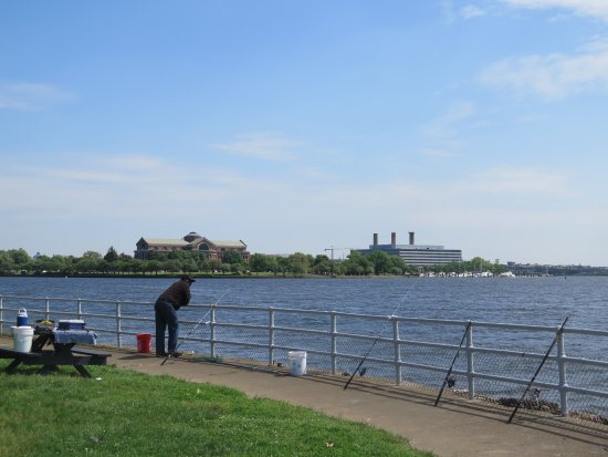 Fishing off Hains Point Picture of Hains Point Washington DC