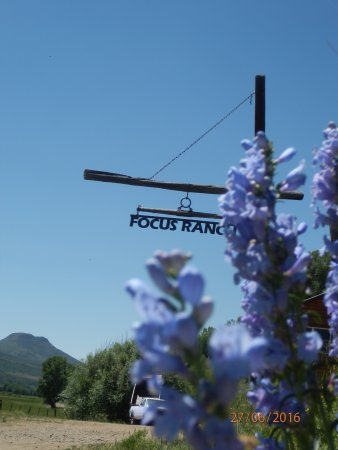Slater, CO: Focus Ranch sign