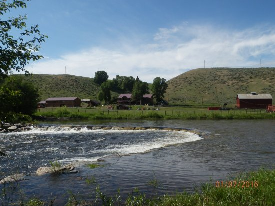 Slater, CO: View of the ranch from across the river