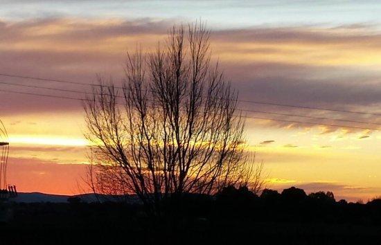 Milawa, Australien: Sunset view