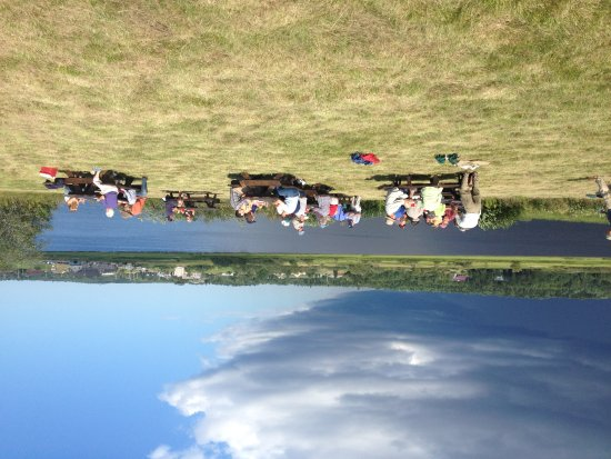 Picnickers at Middle River Park, Machias, ME