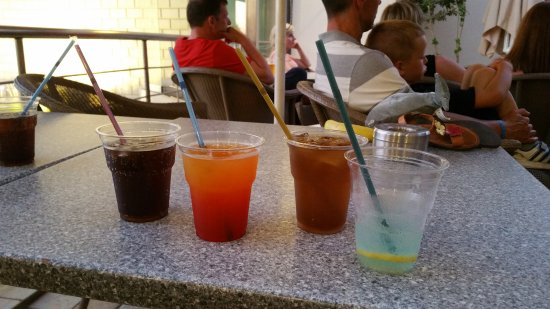 Porto Platanias Beach Resort & Spa: All drinks served in these cups
