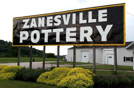 Zanesville Pottery Entrance Sign