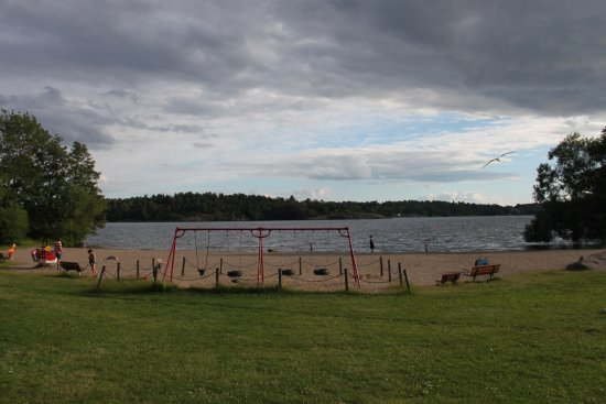 Angby Camping: пляж рядом с кемпингом