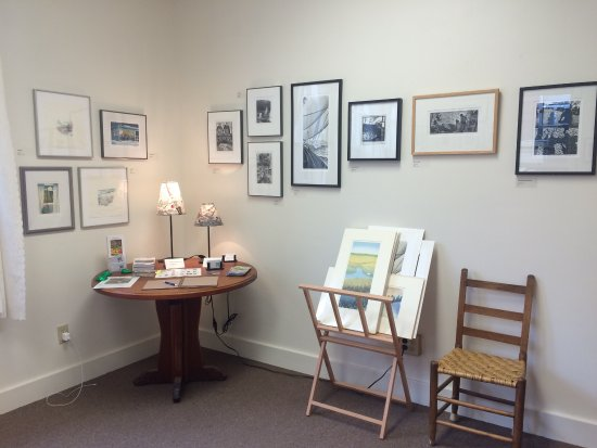 Prints for sale at the Green Lion Gallery in Bath, ME.