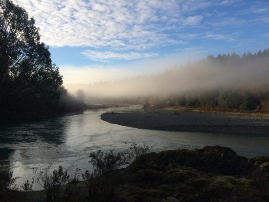 Gasquet, CA: Smith River in the morning mist.
