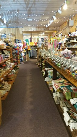 Quechee, VT: candy, cheese, wine, and flavored oil/vinegars are all available in the shops