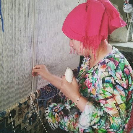 Hotan, China: Carpet Making