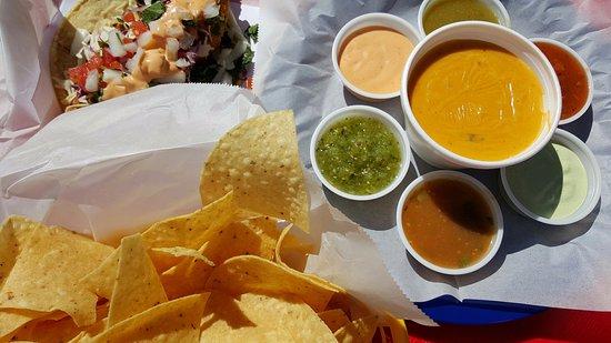 Spring, TX: Carne Asada Taco, Chips & Queso! Fabolous!