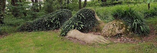 St Austell, UK: Mud Maid sleeping along woodland path