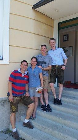 Hotel Laimer Hof: Sebastian, my wife and I, and Jan