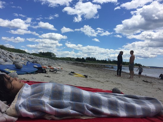 Hubbards, Canada: sometimes its foggy and windy, cold so come prepared and bring your blankets, beach tents etc.