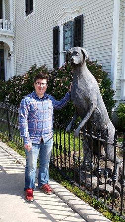 Tree Sculptures: The big dog tree sculpture.