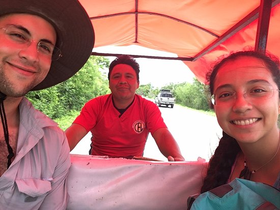 Yucatan, Mexico: Us with Martin in the motoTaxi