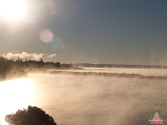 Hubbards, Canada: Morning mist is such a beautiful, serene sight to experience