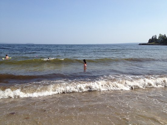 Cleveland Beach Provincial Park: Great for kids just getting comfortable with the waves