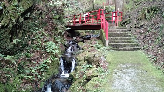 Wakasa-cho, Japonia: One of the bridges over the stream