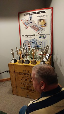 Cabot, Vermont: Award display in the Media Room