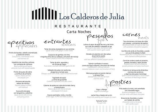 Santiago de la Ribera, Spania: Nueva carta para tus cenas en el Mar Menor