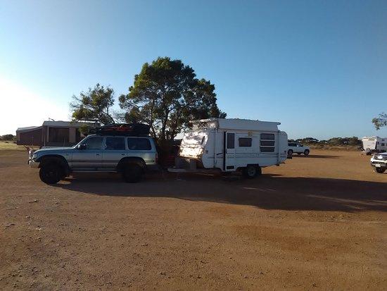 Eucla, Australia: our campsite