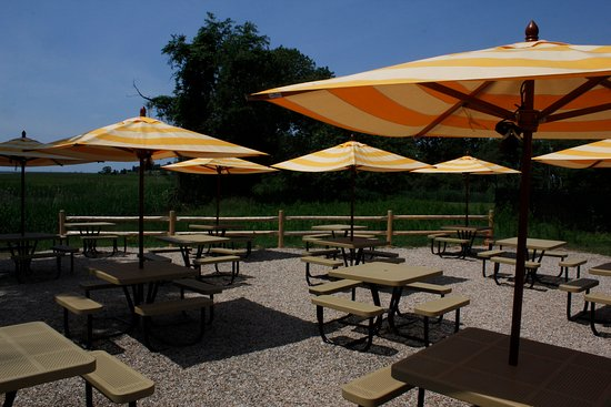 Old Lyme, CT: Our patio with beautiful views of the Long Island Sound.
