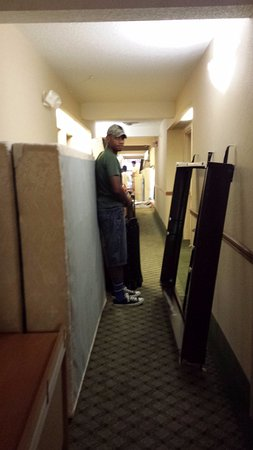 Latta, SC: My son had to hold the mattresses so that we could get by at check out