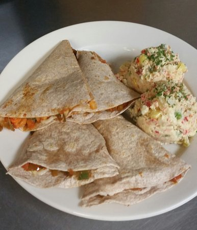Winthrop, MA: Chicken Quesadillas with side center potato salad