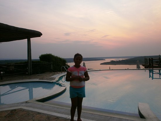 Mweya Safari Lodge: Sunset