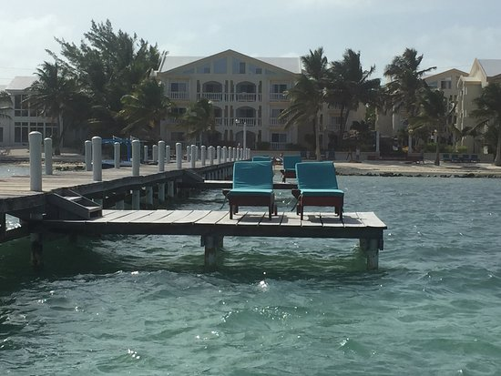 Pelican Reef Villas Resort: From the dock looking back towards the property