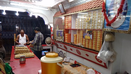 Deoghar, India: The inner view of the prasad shop