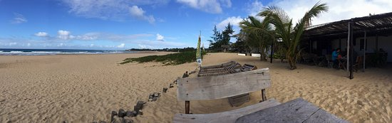 Tofo, Mozambico: View from the beach tables