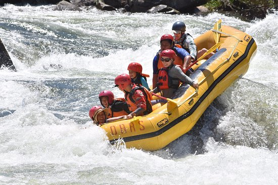 Angels Camp, CA: Going down the rapids with style !
