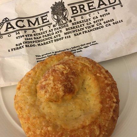 Acme Bread: Sourdough Cheese Roll. YUM!