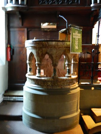 Settle, UK: Marble Pulpit
