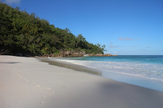 Just my footsteps at Anse Georgette