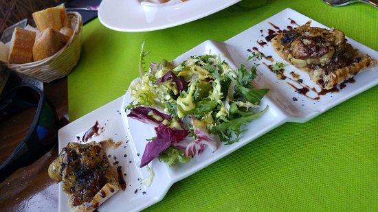 Vila Seca, Espanha: Montadito de foie con cebolla caramelizada